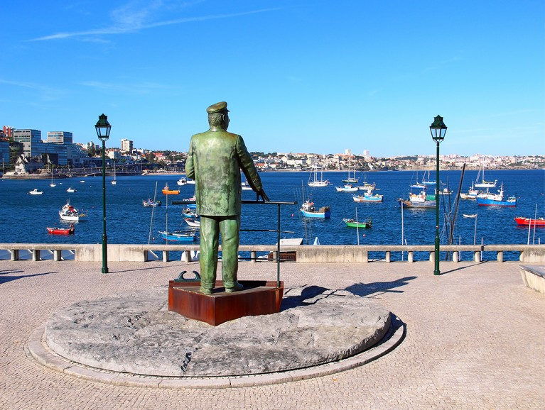 Statue of Dom Carlos in Cascais, Portugal